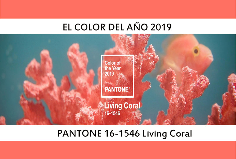 color pantone living coral año 2019