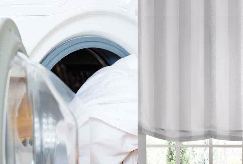 foto lavado de estores tela