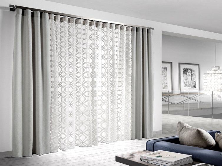 visillo y cortina con onda perfecta
