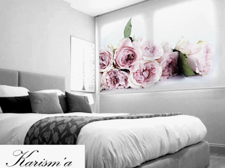 Estor impresión digital con flores