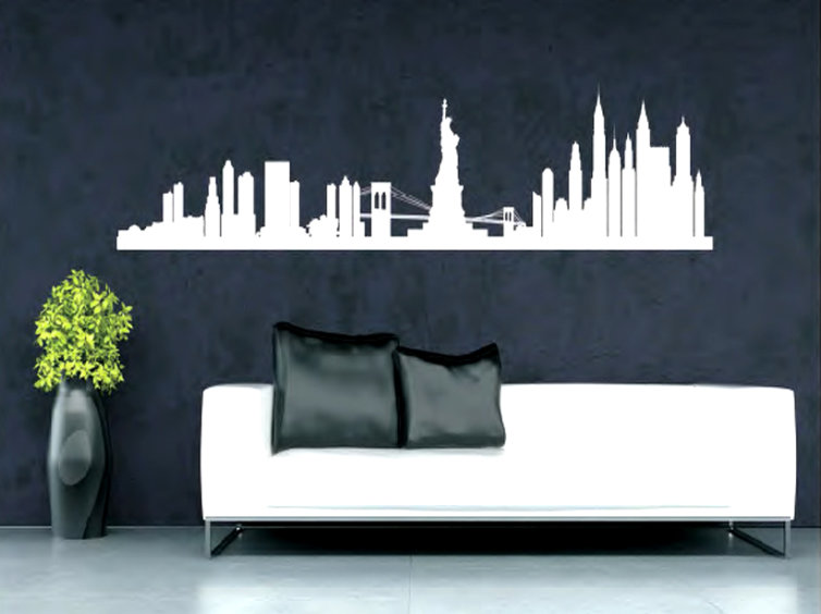 Vinilo para pared de New York