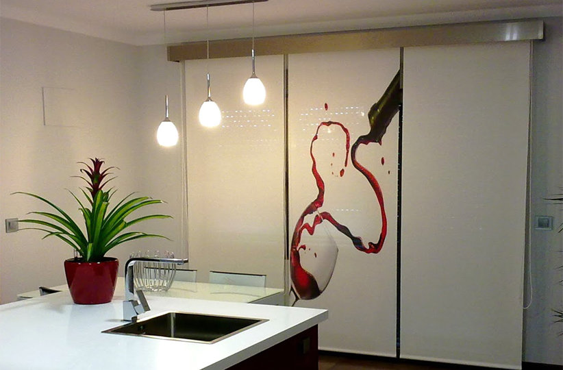 Panel japonés para cocina con impresión digital