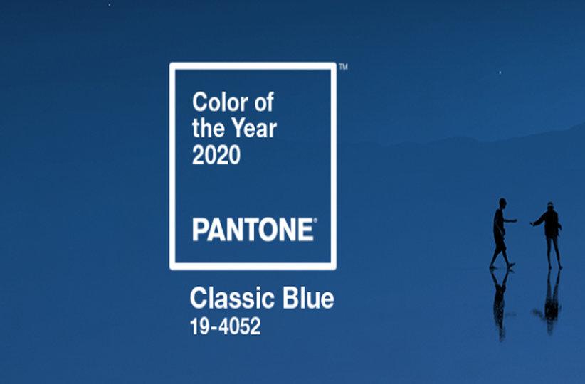Classic Blue color tendencia de textil año 2020