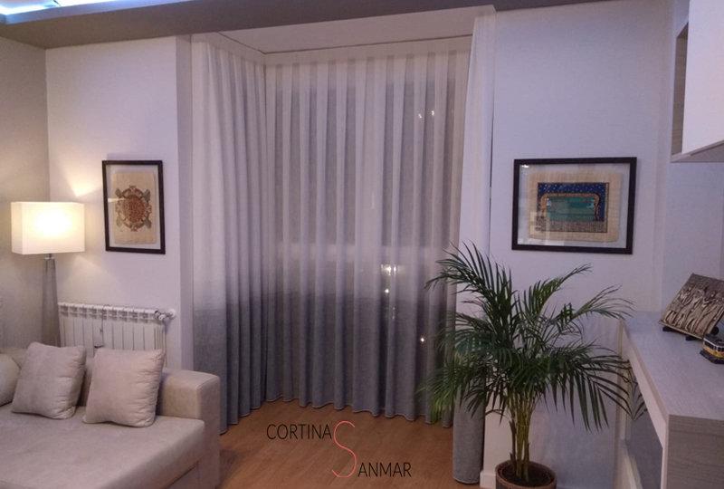 cortinas para un mirador de ventanas