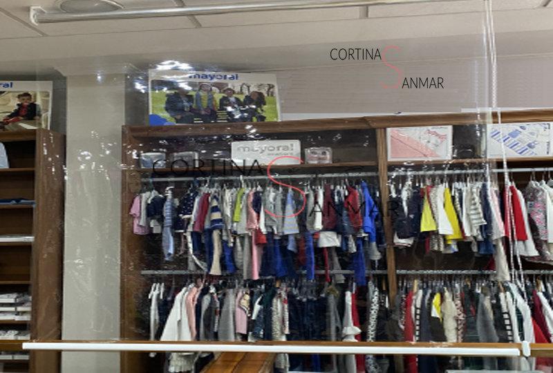Nuevo estor enrollable separador anti COVID-19 tienda ropa 800 por 619