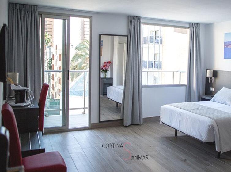 Cortina especial para dormitorio sin persianas
