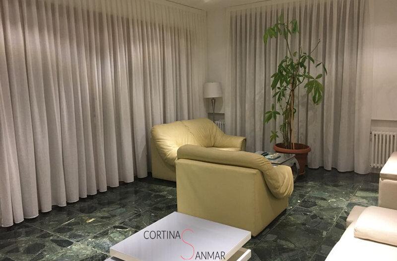 cortinas con visillos para el salón