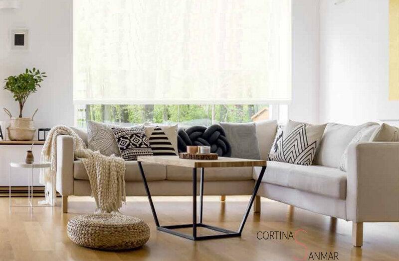 cortinas adecuadas para estancias con poco espacio