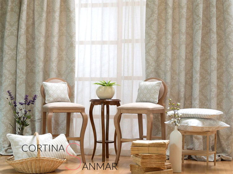 Visillos y cortinas de la Colección Aran del fabricante Comersan.