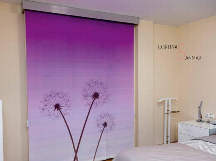 Panel japonés con fondo de color a elegir.
