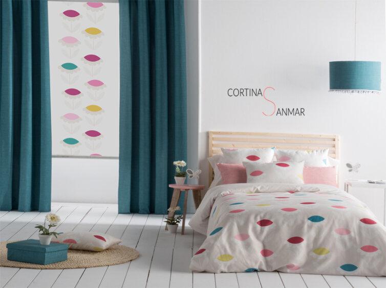 Estor unisex multicolor con cortinas