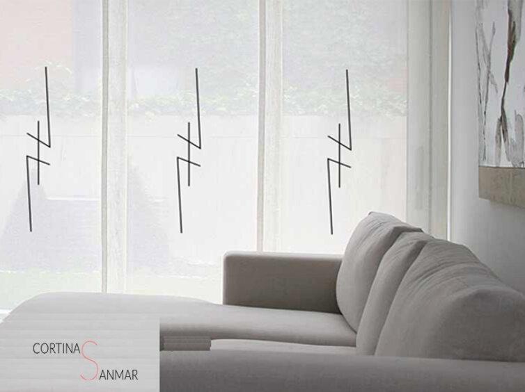 panel japonés estilo ibicenco con motivos geométricos
